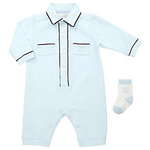 Buy Emile et Rose Baby Jason Pocket Detail Romper, Blue Online at johnlewis.com