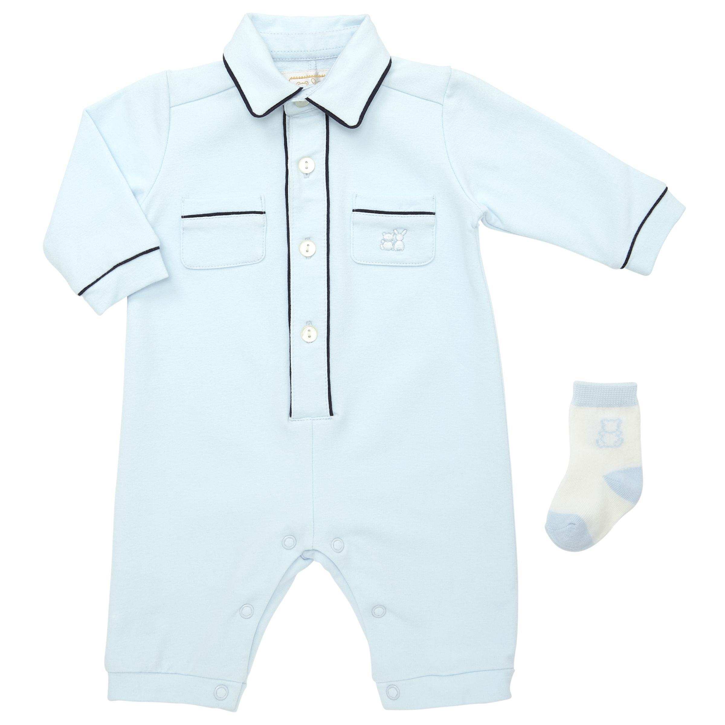Emile et Rose Emile et Rose Baby Jason Pocket Detail Romper, Blue