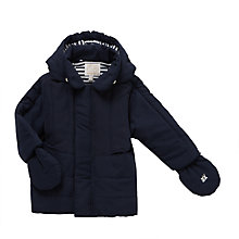 Buy Emile et Rose Jude Microfibre Jacket, Navy Online at johnlewis.com