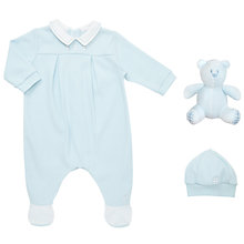Buy Emile et Rose Baby Romper And Hat Set, Blue Online at johnlewis.com