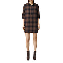 Buy AllSaints Check Ash Dress, Bitter Brown Online at johnlewis.com