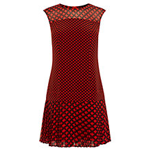Buy Karen Millen Geo Print Dress, Red/Multi Online at johnlewis.com