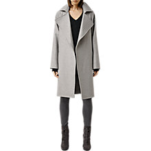 Buy AllSaints Miya Coat, Pale Grey Online at johnlewis.com