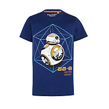Buy Star Wars BB-8 T-Shirt, Navy Online at johnlewis.com