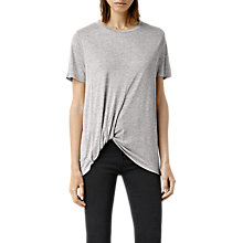 Buy AllSaints Cann Short Sleeve T-Shirt, Pebble Grey Online at johnlewis.com