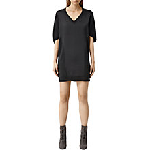 Buy AllSaints Elwar Panel Dress, Cinder Black Marl Online at johnlewis.com