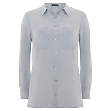 Buy Mint Velvet China Blue Shirt, Blue Online at johnlewis.com