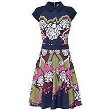 Buy Ted Baker Daywin Tapestry Skater Dress, Dark Blue Online at johnlewis.com