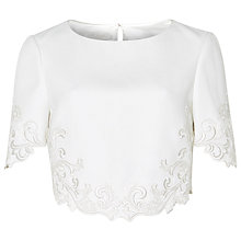Buy Ted Baker Capris Embroidered Crop Top Online at johnlewis.com
