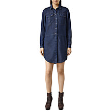 Buy AllSaints Louise Military Dress, Indigo Blue Online at johnlewis.com
