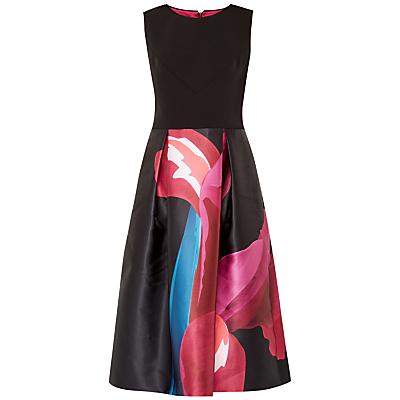 Ted Baker Kathlee Stencilled Stem Dress, Black/Multi