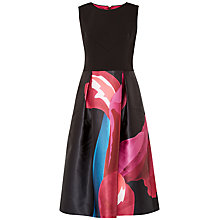 Buy Ted Baker Kathlee Stencilled Stem Dress, Black/Multi Online at johnlewis.com