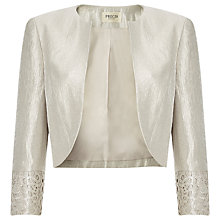 Buy Precis Petite Lace Shimmer Bolero, Oyster Online at johnlewis.com