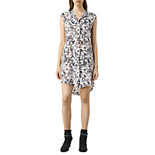 Buy AllSaints Luna Goya Dress, Pale Pink Online at johnlewis.com