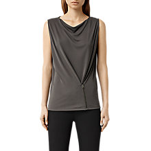 Buy AllSaints Valli Top, Dark Khaki Green Online at johnlewis.com