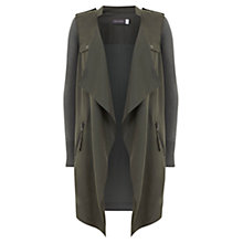 Buy Mint Velvet Utility Cardigan, Khaki Online at johnlewis.com