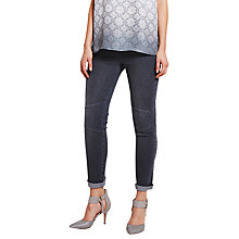 Buy Mint Velvet Camden Biker Skinny Jeans, Grey Online at johnlewis.com