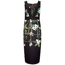 Buy Ted Baker Kacied Secret Trellis Elastic Dress, Black Online at johnlewis.com