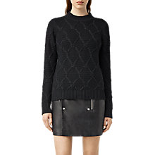 Buy AllSaints Plethen Jumper, Jet Black Online at johnlewis.com