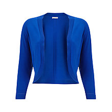 Buy Precis Petite Knitted Shrug, Ocean Blue Online at johnlewis.com