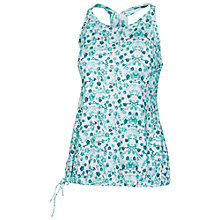 Buy Fat Face Activ88 Racer Print Drawstring Vest Top, Aqua Online at johnlewis.com