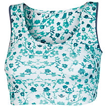Buy Fat Face Activ88 Print Crop Top, Aqua Online at johnlewis.com