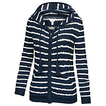 Buy Fat Face Dawlish Stripe Hoody, Navy Online at johnlewis.com