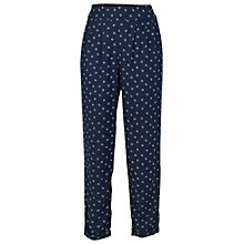 Buy Fat Face Daisy Printed Trousers, Navy Online at johnlewis.com