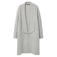 Buy Violeta by Mango Stripe Textured Cardigan, Light Pastel Grey Online at johnlewis.com