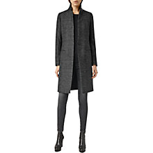 Buy AllSaints Jai Coat, Black/White Online at johnlewis.com