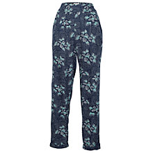 Buy Fat Face Floral Print Trousers, Navy Online at johnlewis.com