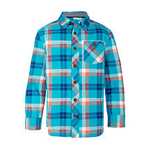 Buy John Lewis Boys' Check Print Shirt, Blue Online at johnlewis.com
