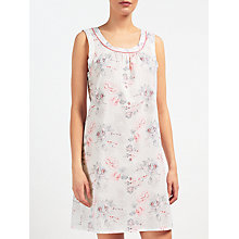 Buy John Lewis Ella Floral Chemise, Pink/Grey Online at johnlewis.com