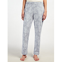 Buy John Lewis Rose Print Jersey Pyjama Bottoms, Grey/Ivory Online at johnlewis.com