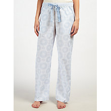 Buy John Lewis Lara Tilly Print Pyjama Bottoms, Blue/Ivory Online at johnlewis.com
