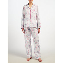 Buy John Lewis Ella Floral Pyjama Set, Pink/Grey Online at johnlewis.com
