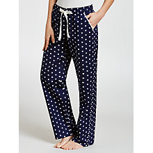 Buy John Lewis Spot Pyjama Pants, Navy Online at johnlewis.com