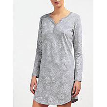 Buy John Lewis Rose Print Jersey Nightshirt, Grey/Ivory Online at johnlewis.com
