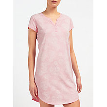 Buy John Lewis Rose Print Nightdress, Pink/Ivory Online at johnlewis.com