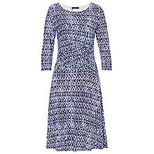 Buy Betty Barclay Printed Jersey Dress, Dark Blue/White Online at johnlewis.com
