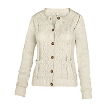 Buy Fat Face Kettering Cable Cardigan, Cotton Seed Online at johnlewis.com