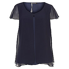 Buy Betty Barclay Layered Top, Navy Blue Online at johnlewis.com