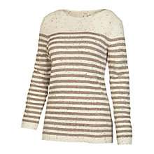 Buy Fat Face Sennen Stripe Jumper, Moleskin Online at johnlewis.com