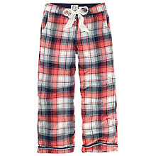 Buy Fat Face Herringbone Check Lounge Pants, Burnt Coral Online at johnlewis.com