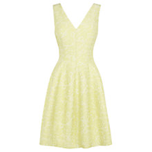 Buy Coast Amberley Floral Jacquard Dress, Lemon Online at johnlewis.com