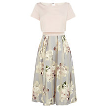 Buy Coast Brea Floral Stripe Dress, Pink Multi Online at johnlewis.com