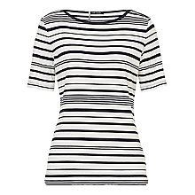 Buy Betty Barclay Striped T-Shirt, Dark Blue/ White Online at johnlewis.com