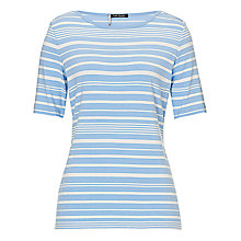 Buy Betty Barclay Striped T-Shirt, Cream/ Blue Online at johnlewis.com