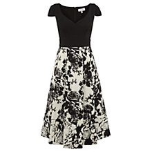 Buy Coast Konnie Jacquard Dress, Black/White Online at johnlewis.com