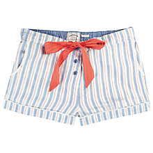 Buy Fat Face Pinstripe Pyjama Shorts, Pale Blue Online at johnlewis.com
